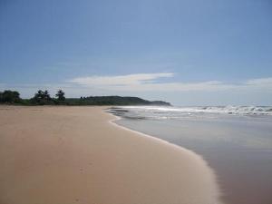 Deserted Ghanaian beach