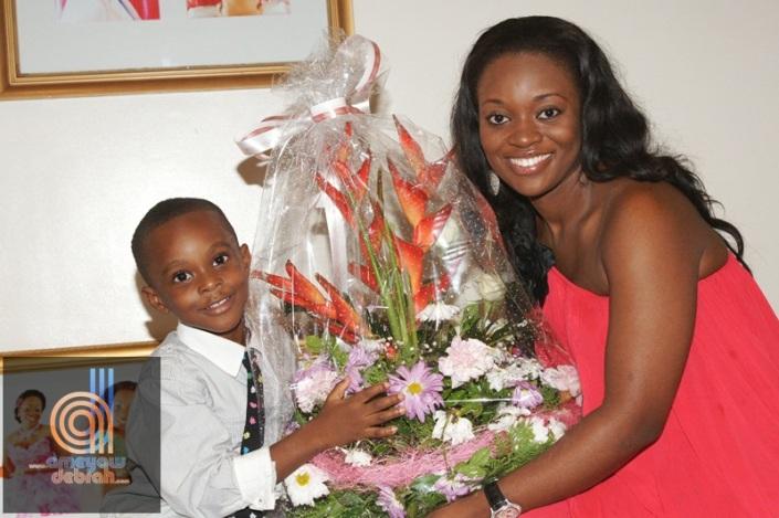 Jackie Appiah's son Damien