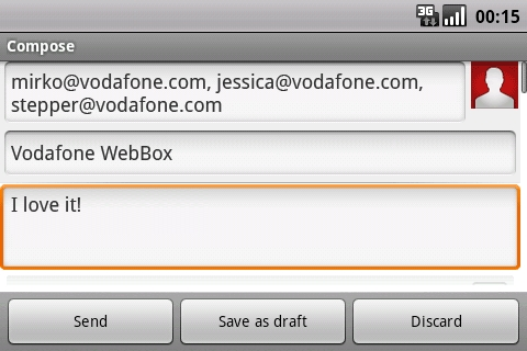 Vodafone Webbox - Easy typing on a full-fledged keyboard with dedicated navigation keys
