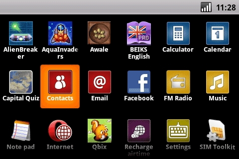 Vodafone Webbox - Main menu with access to all your functions and apps