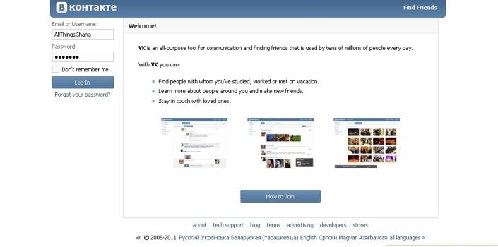 Vkontakte Russia's Popular Social Network
