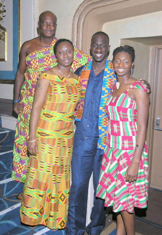 Agoo Magazine's Publisher Mr. Kojo Bonsu and family in New York