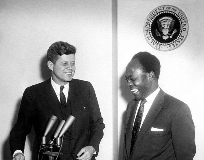 President John F. Kennedy and Osagyefo Dr. Kwame Nkrumah
