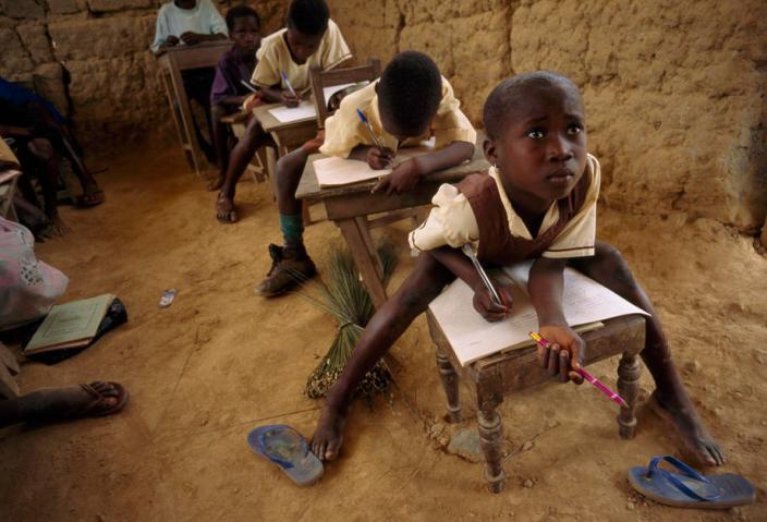 School children in Ewoku, Ghana